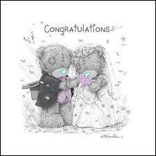 Tatty Teddy Couple Bride And Groom Congratulations Teddy Images, Teddy Bear Pictures, Cute Images, Cute Pictures, Tatty Teddy, Teddy Bear Quotes, Das Abc, Color Me Mine, Bear Wedding