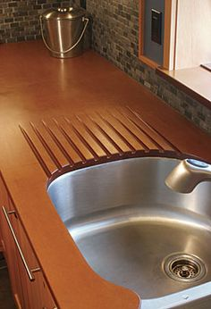 birch ply countertops, drop-in sink, graphic ikea knobs