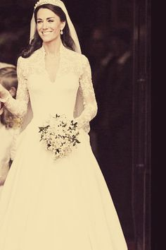 Kate Middleton's gorgeous gown.  We have a version of this gown made by Justin Alexander in size 14 in our Bedford, NH store - Uniquely Couture Bridal.