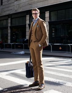 A Three-Piece suit done right! - Gant Rugger Three-Piece Tweed Suit