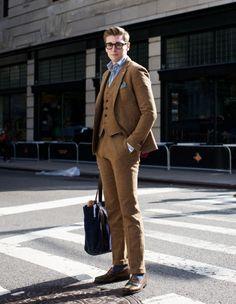 Gant Rugger Three-Piece Tweed Suit