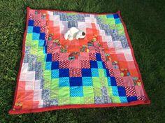 Babydecken - Entzückende Babydecke/Krabbeldecke,rot/rosa/orange - ein Designerstück von Alani11 bei DaWanda