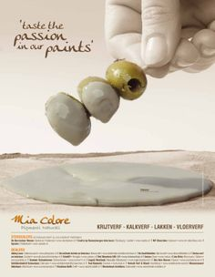 De tweede advertentie van Mia Colore campagne  'taste the passion in our paints'!