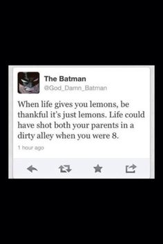 Hahahahaha! Lemons or death?