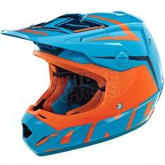 2014 One Industries Atom Kids Helmet - Array Orange Cyan