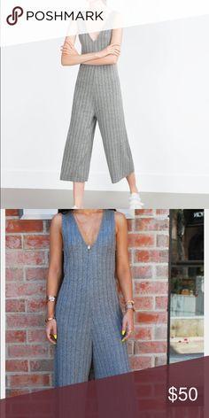 Zara- Gray wide jumpsuit Like new! Easy to wear!! Zara Other
