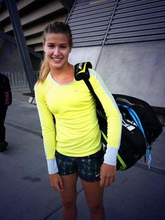 Eugenie Bouchard is my fitness inspiration. She is a Canadian pro tennis player and is Nike sponsored which adds bonus points :) she proves that a woman can achieve athletic excellence, look good while doing it and always have a smile on your face!