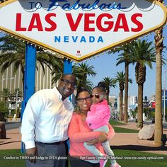 Candice gets glitzy in her Theo glasses with her family in sunny Las Vegas!  Eye Candy beats all the odds!  Be who you want to be at Eye Candy Optical!  www.eye-cnady-optical.com