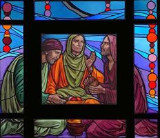 Stained Glass-Page 5 Luke 24, Stained Glass Designs, Tile Art, Amazing Grace, Christianity, My Design, Spirituality, Pottery, Faith