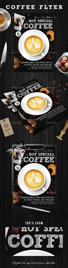 Coffee Flyer Template Flyer template, Psd templates and Template - coffee shop brochure template