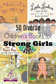 50 Diverse Children's Books for Strong Girls show mighty girl protagonists accomplishing goals, exploring, educating others, and breaking stereotypes. Kids Reading, Reading Lists, Reading Resources, Up Book, Strong Girls, Strong Women, Book Girl, Children's Literature, Read Aloud