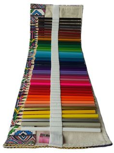 Colored Pencils 48 for Adults Kids with Canvas Roll up Wrap Case Holder and Sharpener Set Artist for Drawing Coloring Oil Base Non-Toxic Best Premium Art Supplies Assorted Colors Gift Travel Kit Fabric Crafts, Sewing Crafts, Sewing Projects, Colored Pencil Techniques, Creation Couture, Pencil Bags, Pen Case, Colorful Drawings, Crayon