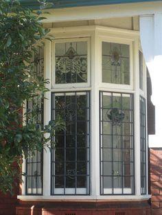 Art Nouveau Stained Glass Bay Window - Elwood by raaen99, via Flickr