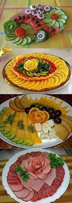 Rezepte, Ideas for dessert bowls for parties Party Food Platters, Veggie Platters, Food Trays, Potluck Desserts, Summer Desserts, Food Design, Buffet Party, Veggie Art, Creative Food Art