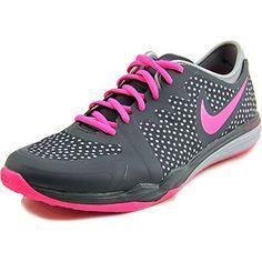 new concept ac89b 485ef Nike Womens Dual Fusion Tr 3 Print Classic CharclPink PowDv Gry Training  Shoe 95 Women US