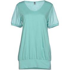 European Culture T-shirt ($25) ❤ liked on Polyvore featuring tops, t-shirts, shirts, light green, short sleeve collared shirt, cotton tee, light green shirt, t shirts and blue shirt
