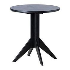 "BJÖRKSNÄS coffee table, black Diameter: 21 5/8 "" Height: 23 5/8 "" Diameter: 55 cm Height: 60 cm"