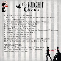I am not in charge of music...but here is another person's Night Circus Fan soundtrack