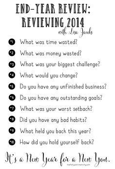 Ten Questions for Review by Lisa Jacobs