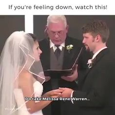 The guy marrying them looks so annoyed