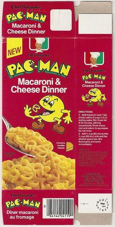 1982 Chef Boyardee Pac-Man Macaroni & Cheese Dinner