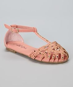 Another great find on #zulily! Pink Cage Julia Sandal by QQ Girl #zulilyfinds