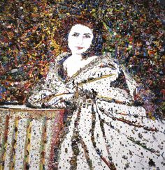 Vik Muniz, Sarah Bernhardt, after Nadar, from the: Rebus, 2010 Digital print C, 46.85 x 39.76 x 70.87 in and 83.86 in, Edition of 10 and Edition 6/6