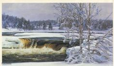 Talvinen Kymijoki, Viktor Westerholm (1860-1919) Picture Link, Finland, How To Find Out, Colours, Pictures, Google Search, Rivers, Painters, Outdoor