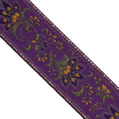 Floral Jacquard Ribbon Buy wholesale woven ribbons and trims by yard, over hundreds of designs available. Fancy woven ribbons & decorative trims supplier since Decorative Trim, Jacquard Weave, Buying Wholesale, Different Colors, Bohemian Rug, Fancy, Detail, Floral, Tassels