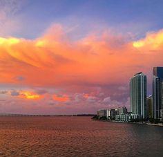 Miami Places To Travel, Atlanta, Miami, Clouds, Celestial, Sunset, Outdoor, Outdoors, Destinations