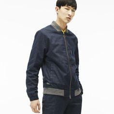 Unisex Lacoste LIVE Zippered Cotton Flannel Jacket