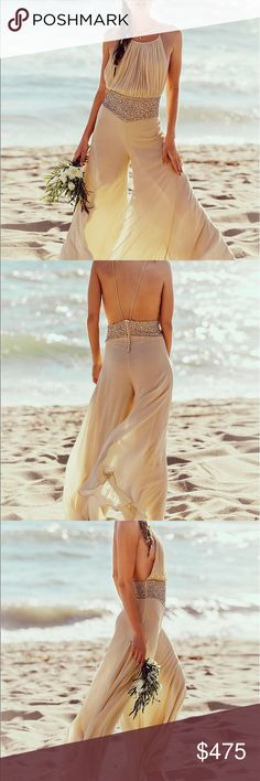 Free People Kristyal One Piece Limited Edition See pic 4 gorgeous silk flowy perfect fit jumpsuit gorgeous Free People Pants Jumpsuits & Rompers