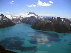 Lake Garibaldi, Whistler, CA. 17 miles out and back - so wish we did this on our honeymoon! We need to go back.