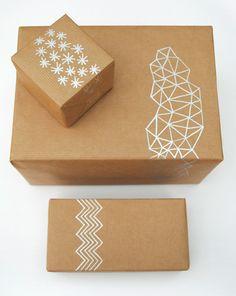 Brown paper, silver pen