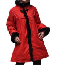 Winter Cotton Loose fitting padded coat Women red coat by MaLieb