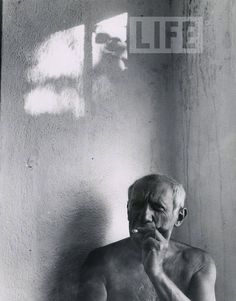 Pablo Picasso in Vallauris, France. 1949.