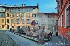 vintage homes in Italy | Old houses in Saluzzo, Italy.