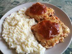 Mozzarella, Risotto, Mashed Potatoes, Chicken Recipes, Bacon, Hot, Ethnic Recipes, Whipped Potatoes, Smash Potatoes