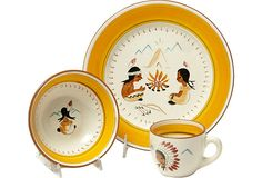 Stangl Indian Campfire Set, 1955  KELS, you gotta own this.