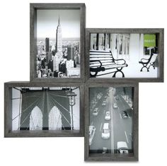 nexxt Bricks Collage Picture Frame Holds 44 by 6Inch Photos Ash Grey >>> Check this awesome product by going to the link at the image.
