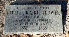 Sister of Quanah Parker. Her Comanche name was Toh-Tsee-Ah and she was one of three children born to Cynthia Ann Parker and a daring Comanche chief named Peta Nocona. Find A Grave Native American Pictures, Native American History, American Indians, Cherokee History, Comanche Indians, Quanah Parker, Nothing Left To Say, Famous Graves, Before Us