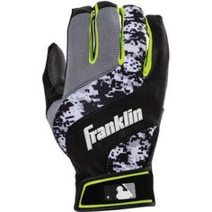 Franklin Sports Digital Shokwave Youth Batting Gloves, Multiple Colors, Black
