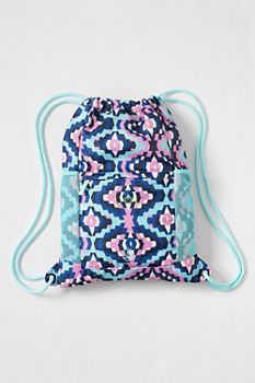 Print Packable Cinch Sack from Lands' End