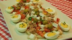 Ensalada de alubias blancas con queso fresco receta fácil y rápida