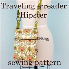 Traveling Hipster eReader Pattern #sewing - @Katherine Adams Winters for when you learn how to use that machine!!