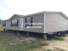 (210)-887-2760  http://mhdeals.net/gallery/used-double-wide-mobile-homes/Atascosa-TX-78002-2014TRUTA32  $49900  2014 Used Doublewide Manufactured Home in Near Mint Condition. Built to 1,568 square feet (28 x 56). 3 bed 2 bath great starter home with wind zone 1 specs. Interior comes with a Laundry Room, Split Floor Plan, and Walk-in Closets.  LIC 36155