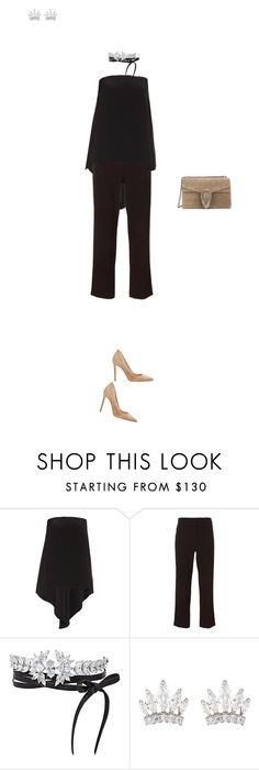 """""""9:59 pm"""" by citizensofearth ❤ liked on Polyvore featuring Roksanda, The Row, Fallon, Gucci, Gianvito Rossi, women's clothing, women, female, woman and misses"""
