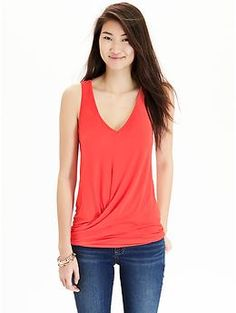 I want to sew this, now looking for a pattern...Twist-Front V-Neck Tanks   Old Navy