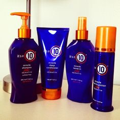 Same miracle formula, now with the added benefits of #keratin. #ItsA10