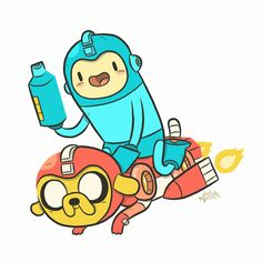MegaMan and Adventure Time. Like peanut butter and chocolate, they're two great tastes that are great together.